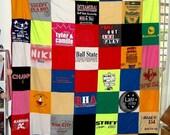 T-Shirt Memory Blanket-Twin Size TShirt Blanket