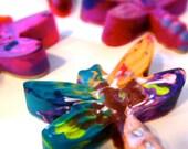 Recycled Rainbow Crayons - Jumbo Dragonfly Rainbow Crayons (Set of 3 Recycled Crayons)