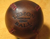 Legendary Brown Chromexcel LEMON BALL vintage style lemon peel baseball. Brown with Red Stitches