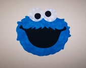 Fabric Applique TEMPLATE ONLY Sesame Street Cookie Monster