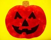 Fabric Applique TEMPLATE ONLY Jack O Lantern Pumpkin
