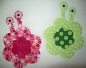 Fabric Applique TEMPLATE ONLY Flower Monsters