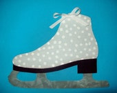Fabric Applique TEMPLATE ONLY Figure Ice Skate