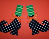 Fabric Applique TEMPLATE ONLY Witch Shoes