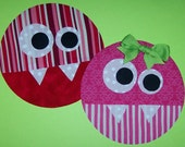 Fabric Applique TEMPLATE Pattern ONLY Monster Spots....NEW