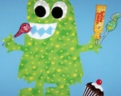 Applique TEMPLATE Pattern ONLY.....SWEETUMS The Monster...New