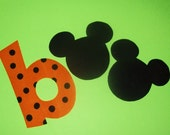 Fabric Applique TEMPLATE Pattern Only Mickey Minnie Mouse BOO For HALLOWEEN.......New