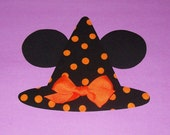 Fabric Applique TEMPLATE Pattern Only Mickey Minnie Mouse WITCH Hat With Ears For HALLOWEEN.......New