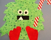 Fabric Applique TEMPLATE Pattern Only CHRISTMAS Tree Branch Monster....New