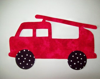 Fabric Applique TEMPLATE ONLY Fire Engine Truck