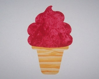 Fabric Applique TEMPLATE ONLY Soft Serve Ice Cream Cone