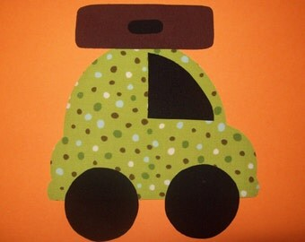 Fabric Applique TEMPLATE ONLY Vacation Car With Suitcase