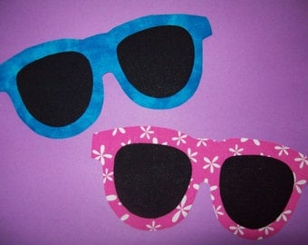 Fabric Applique TEMPLATE ONLY Sunglasses