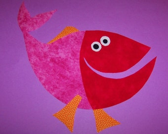 Fabric Applique TEMPLATE ONLY Funny Fish