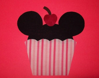 Fabric Applique TEMPLATE ONLY Mickey Minnie Cupcake
