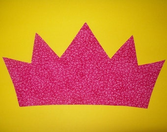 3 Sizes Pdf Fabric Applique TEMPLATE ONLY King Queen Crown