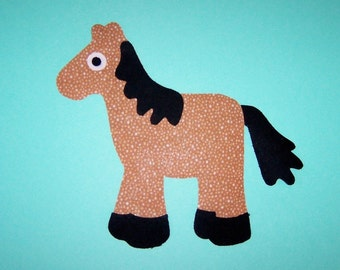 Fabric Applique TEMPLATE ONLY Horse