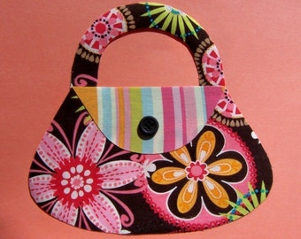 Fabric Applique TEMPLATE ONLY Girls Purse