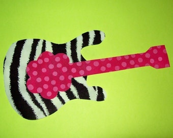 Fabric Applique TEMPLATE ONLY Electric Guitar