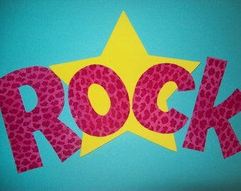 Fabric Applique TEMPLATE ONLY Rock Star