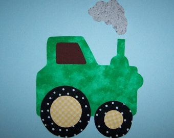 Fabric Applique TEMPLATE ONLY Tractor