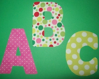 Fabric Applique Template Pattern ONLY ALPHABET Letters..... Standard Font 5 Inch..... Full Set of 26