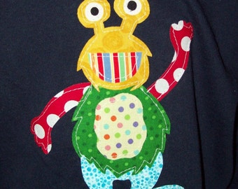 Fabric Applique TEMPLATE ONLY MisMaTChEd MoNSteR
