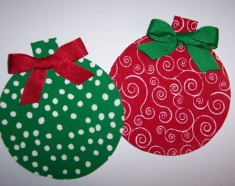 Fabric Applique TEMPLATE ONLY Christmas Ornament