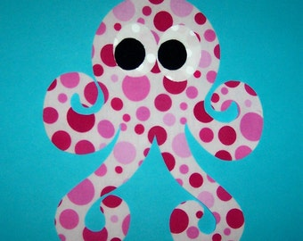 Fabric Applique TEMPLATE ONLY SwiRly Curly Octopus....NEW