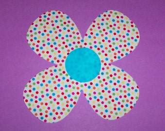 Fabric Applique TEMPLATE ONLY Wild Flower....New