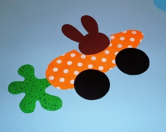 Applique PDF Template Pattern Only Bunny'S CARROT CAR...New