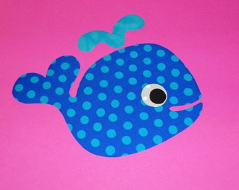 Applique PDF TEMPLATE Pattern Only Heart Tail WHALE...New