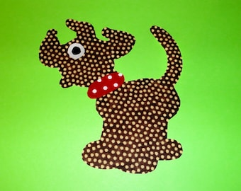 Applique TEMPLATE PDF Pattern ONLY Dog
