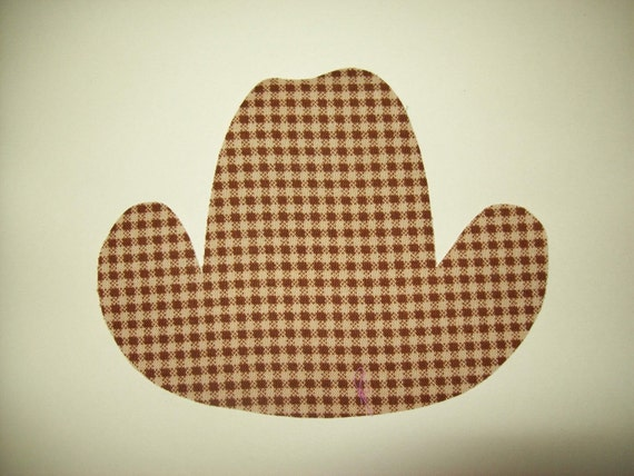 Fabric Applique TEMPLATE ONLY Cowboy Hat