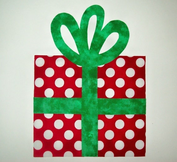 Fabric Applique TEMPLATE ONLY Birthday Christmas Gift Present
