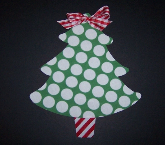 Fabric Applique TEMPLATE PATTERN ONLY Traditional Christmas Tree
