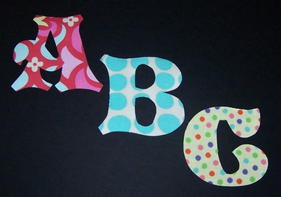 Letter appliques patterns patterns kid fabric applique patterns only alphabet letters pronofoot35fo Image collections