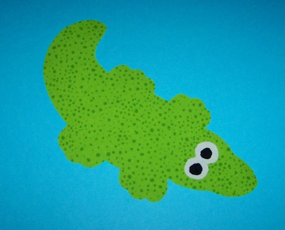 Fabric Applique TEMPLATE ONLY Crocodile