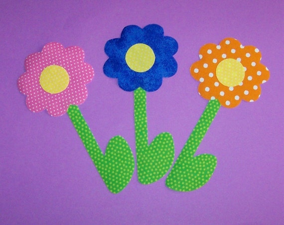 Fabric Applique TEMPLATE Pattern  ONLY Bitty Bud Flower
