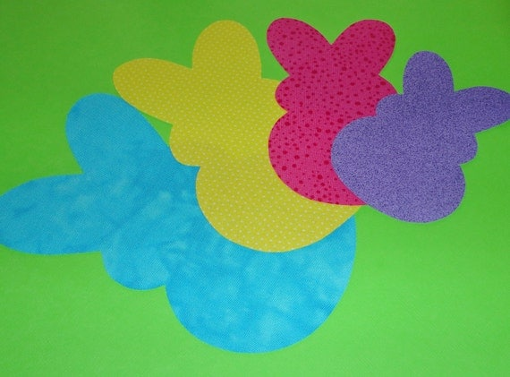 Applique TEMPLATE Pattern Only MARSHMALLOW BUNNY'S....4 Sizes...Small to X Large....New