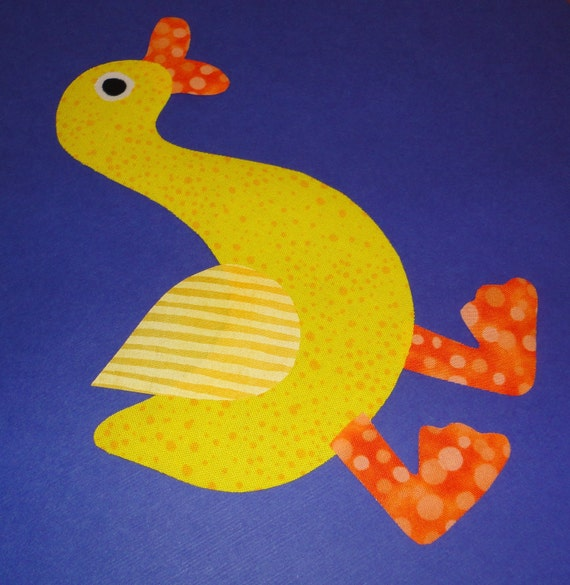 Fabric Applique TEMPLATE Pattern Only QUACKER The Duck...New