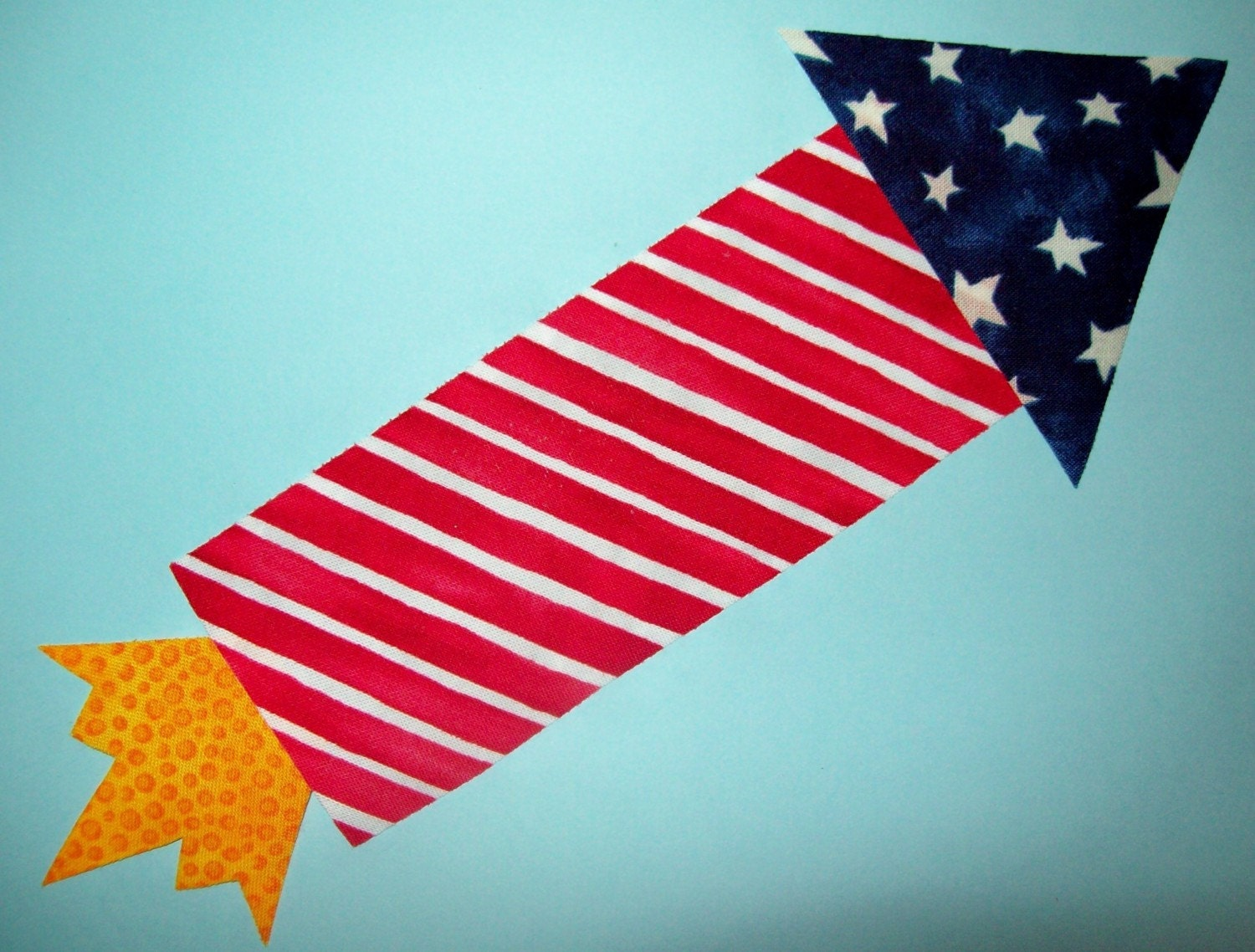 Fabric Applique TEMPLATE ONLY July 4th Rocket