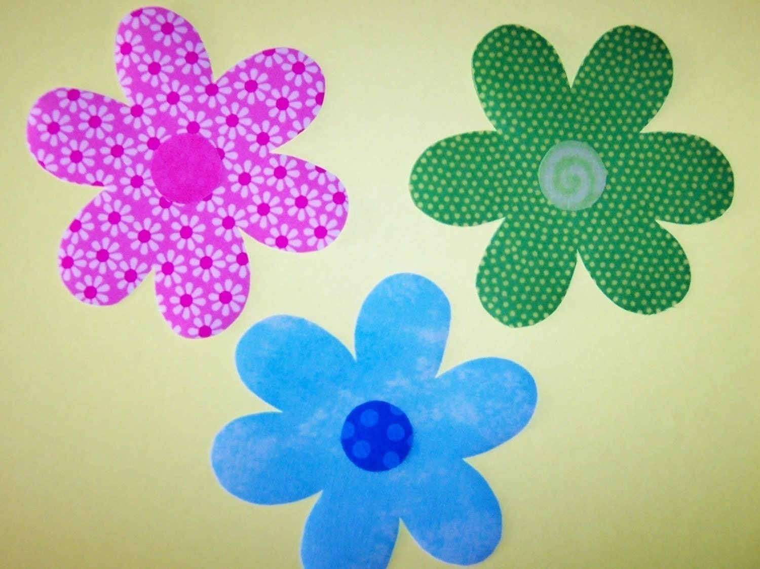 Daisy Template Fabric applique template only