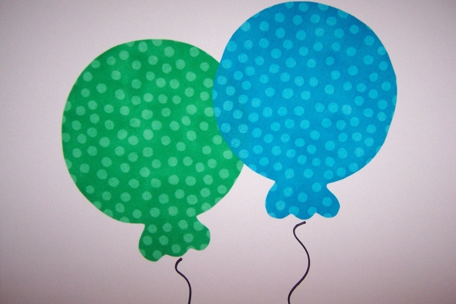 Fabric Applique TEMPLATE ONLY Birthday Party Balloon