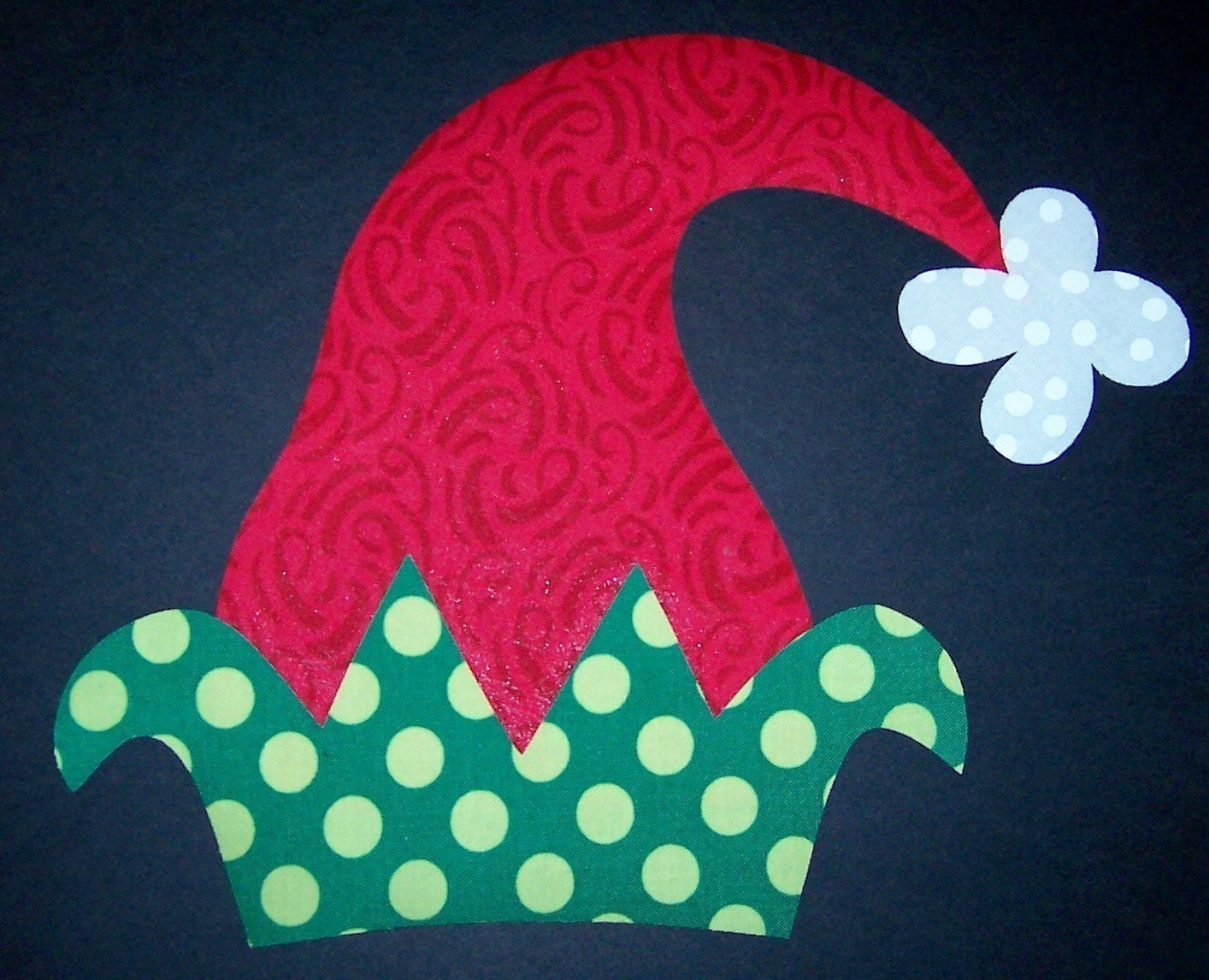 Fabric Applique TEMPLATE ONLY Christmas Elf Hat by etsykim on Etsy