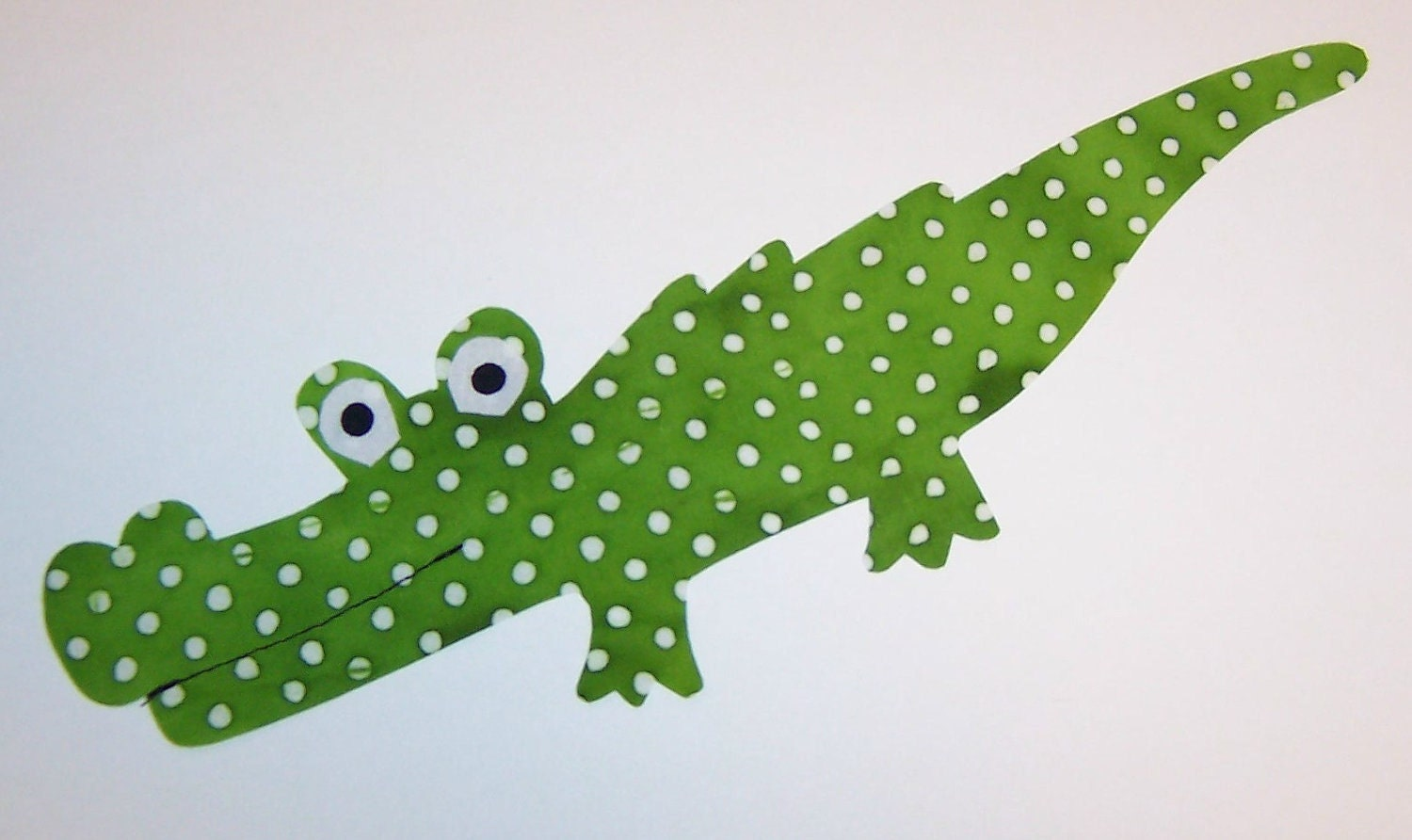 Applique TEMPLATE Pattern ONLY Long Gator Alligator...New