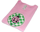 Lady in Pink Ladybug Toddler Tee 2 4 6 8 Years