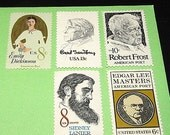 POETS .. Unused Vintage US Postage Stamps Enough for you to mail 10 letters