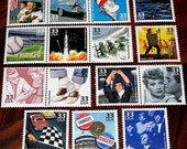 CELEBRATE the 50s, 60s and 70s .. Unused Vintage US Postage Stamps .. Enough to mail 45 Postcards