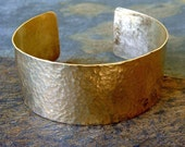 Hammered Gold Cuff Bracelet